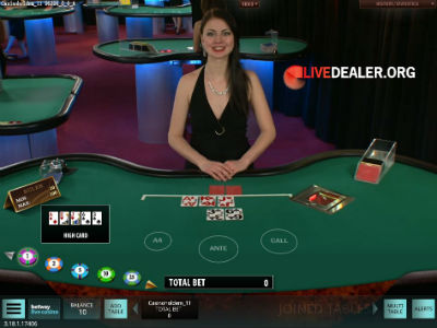 live poker dealer online casino
